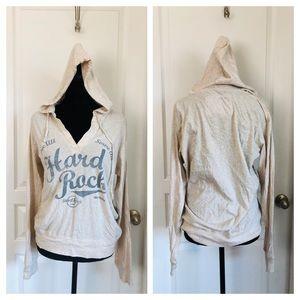 Hard Rock Cafe Tops - Hard Rock Cafe Long Sleeve Hooded Tee